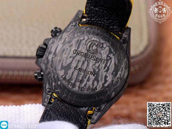 Bên dưới mặt kính sapphire là mặt số vô cùng độc đáo và nổi bật của đồng hồ Rolex Cosmograph Daytona Super Fake