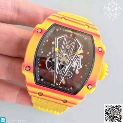 Đồng hồ Richard Mille Fake RM27-03 Replica 1:1 được chế tác hoàn toàn bằng carbon màu vàng