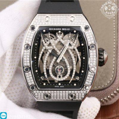 Mẫu đồng hồ Richard Mille RM 19-01 Replica 1:1, siêu phẩm nổi bật với hình ảnh nhện đính kim cương nhân tạo