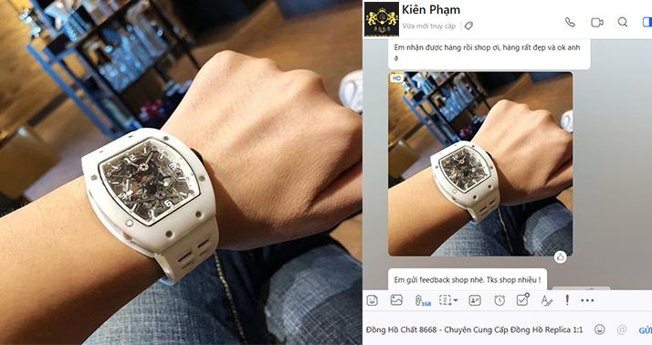 Anh Kiên Phạm tại Hải Phòng đặt mua siêu phẩm đồng hồ Richard Mille Skeleton tại Shop.