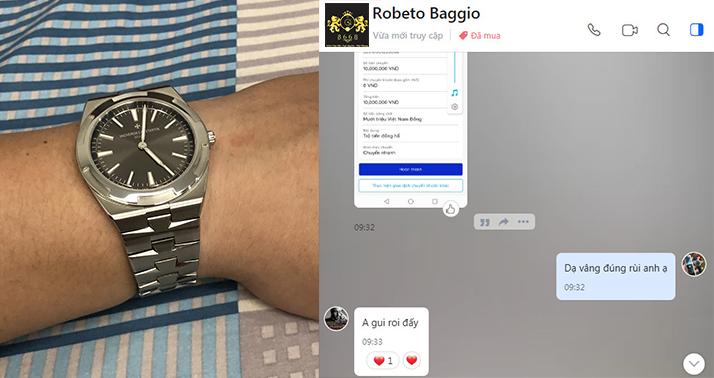 Anh Trung khách hàng tới từ Hà Nội đặt mua chiếc đồng hồ Vacheron Constantin phiên bản Replica 1:1. Thông tin chi tiết sản phẩm : Tại Đây