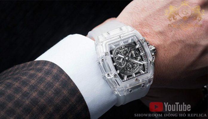 Bộ sưu tập đồng hồ Hublot Spirit Of Big Bang có thiết kế hình chum rượu ( kiểu dáng Tonneau ) làm tiêu chỉ thiết kế