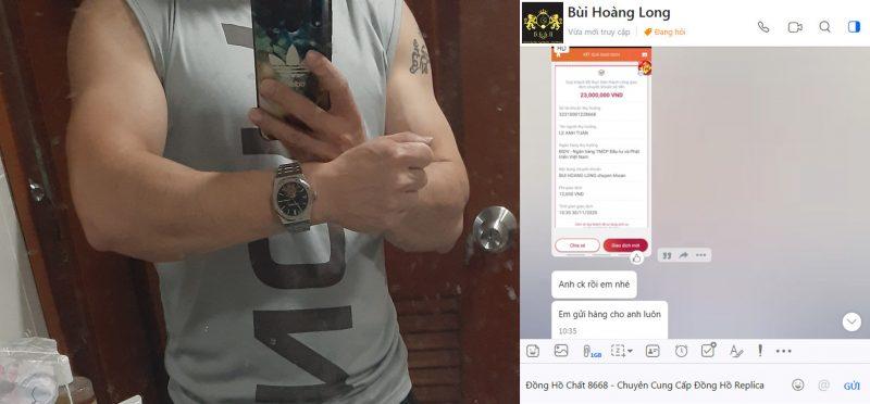 Anh Long chủ tiệm quán thịt Dê tại Hà Nội mua đồng hồ Audemars Piguet Fake 1:1 Tourbillon ( dẫn link sản phẩm ) tại shop