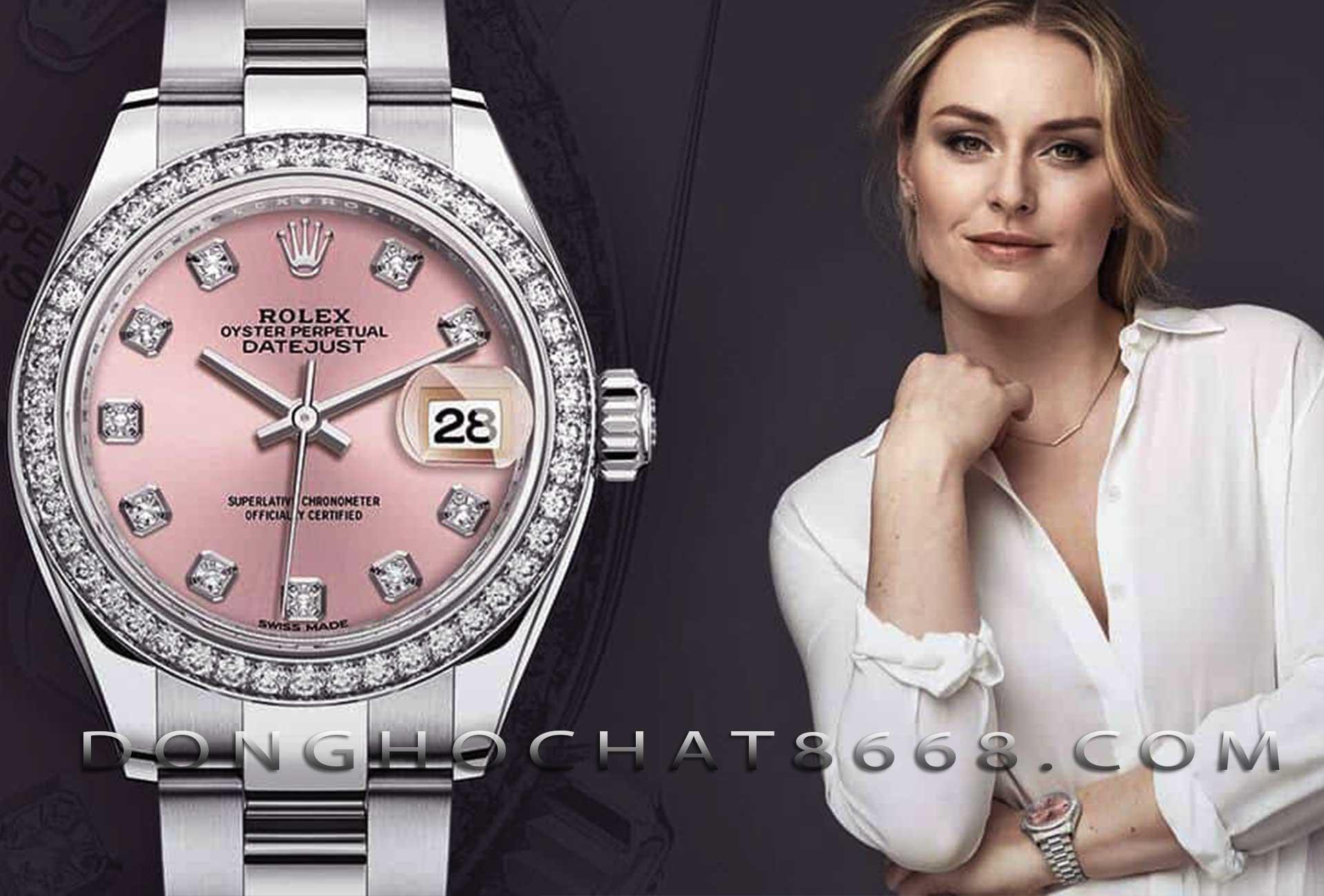 Đồng hồ nữ Rolex sang trọng đính kim cương
