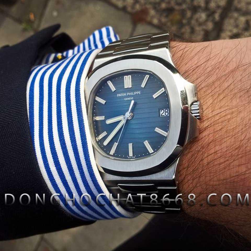 Đồng hồ Patek Philippe Nautilus Fake màu xanh navy được ưa chuộng trong thời gian gần đây