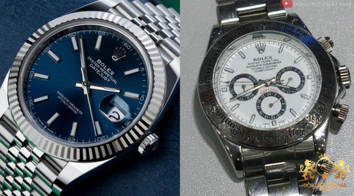 Rất dễ dàng nhân ra qua bộ vỏ thép của các mẫu đồng hồ Replica cao cấp so với các mẫu đồng hồ chợ rẻ tiền