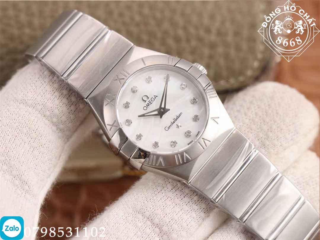 chi tiết thiết kế chuẩn chỉ 1:1 đồng hồ omega constellation