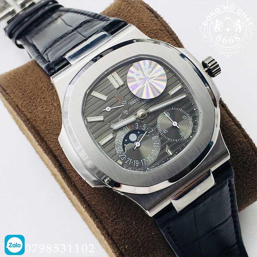 chi tiết mặt số đồng hồ patek philippe fake cao cấp được hoàn thiện vô cùng ấn tượng