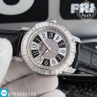 Đồng hồ Piaget Altipnano Diamond White Replica 1:1 có bộ mặt Dial khá Retro đính kín đá