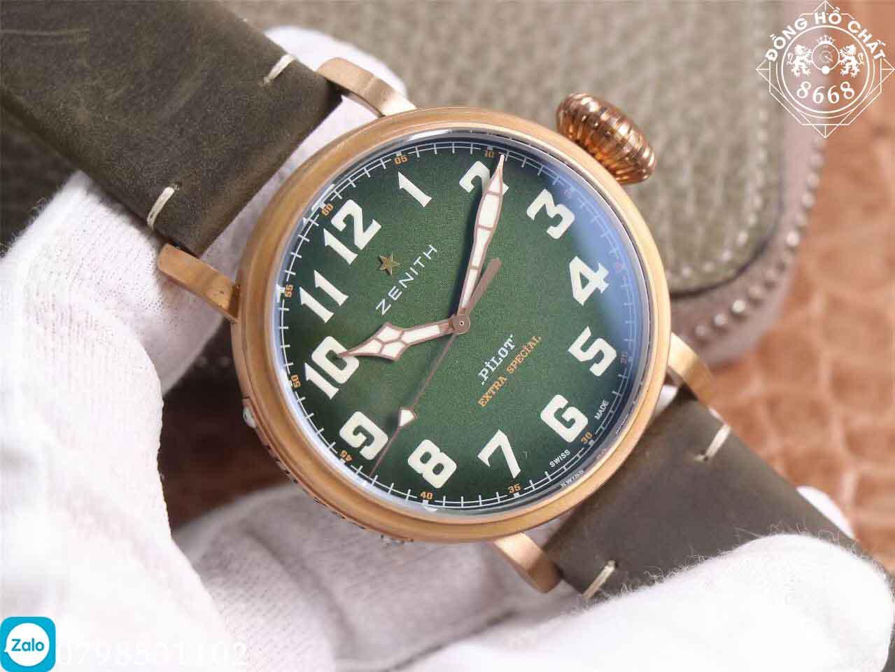 tổng thể thiết kế theo chuẩn 1:1 bản hãng của đồng hồ nam zenith cao cấp