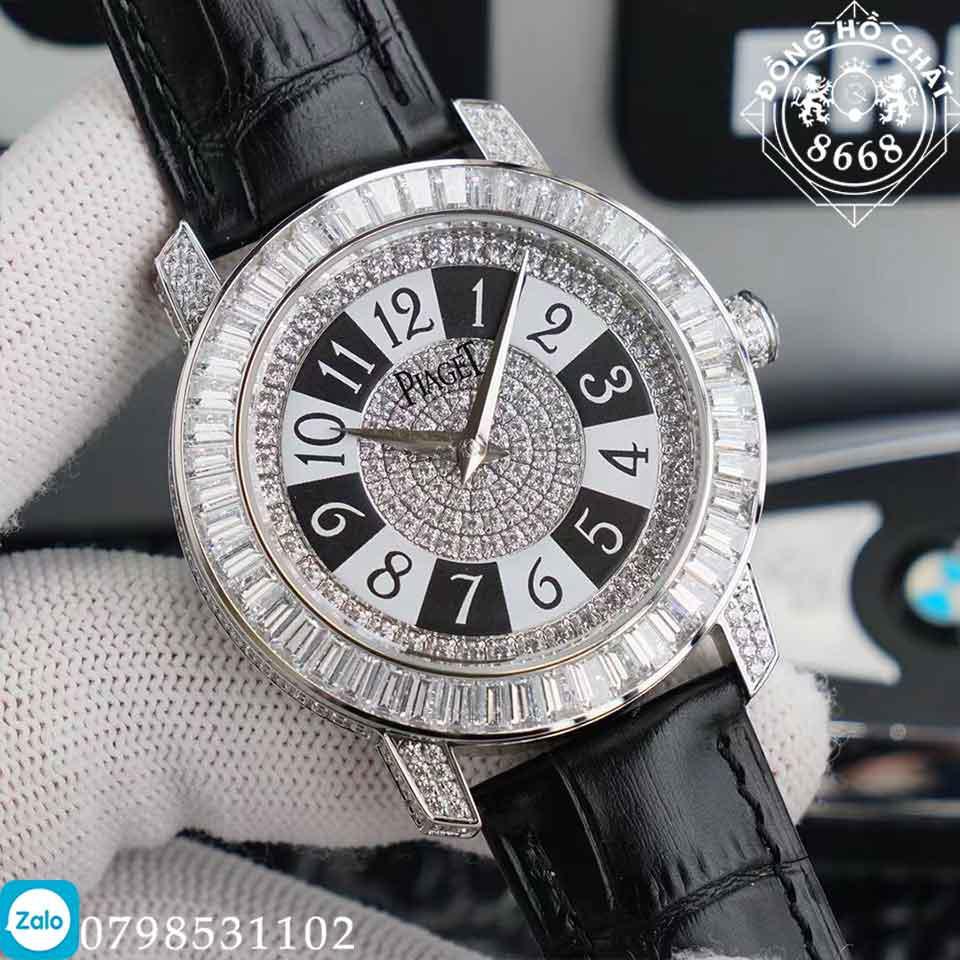 tổng quan các chi tiết trên mặt số đồng hồ piaget full diamond