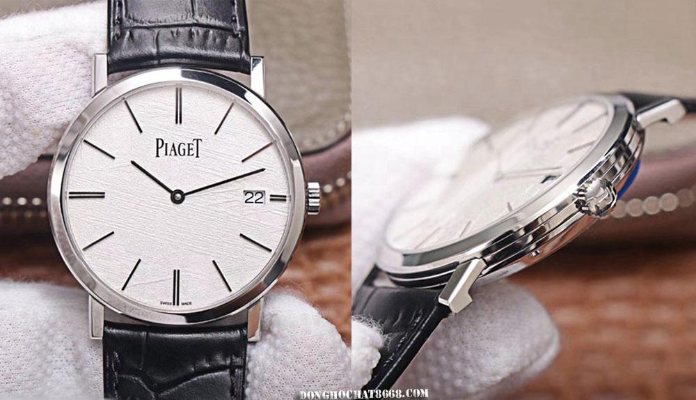Tất cả các chi tiết đều được hoàn thiện theo khuôn mẫu 1:1 của hãng. Rất khó có thể phân biệt được sự khác nhau của chiếc đồng hồ Piaget Super Fake 1:1 với Piaget chính hãng.