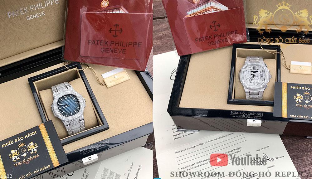 Hình ảnh 2 mẫu đồng hồ Patek Philippe Super Fake 1:1 đang có sẵn tại Đồng Hồ Chất 8668