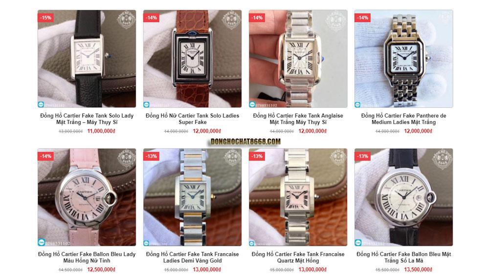Vẻ đẹp của đồng hồ Cartier Replica 1:1 vẫn không hề kém cạnh hàng chính hãng