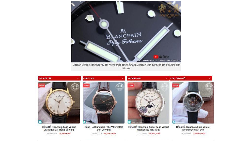 Đồng hồ Blancpain phiên bản Rep 1:1 ưu việt tại Đồng Hồ Chất 8668.