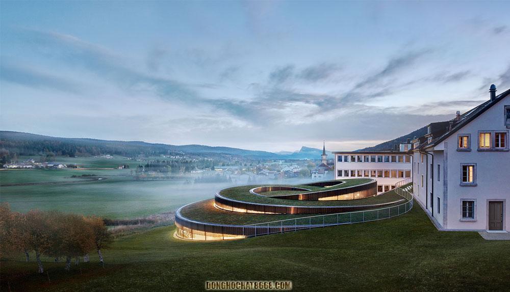 Trụ sở chính của thương hiệu đồng hồ Audemars Piguet tại Le Brassus - Thụy Sĩ