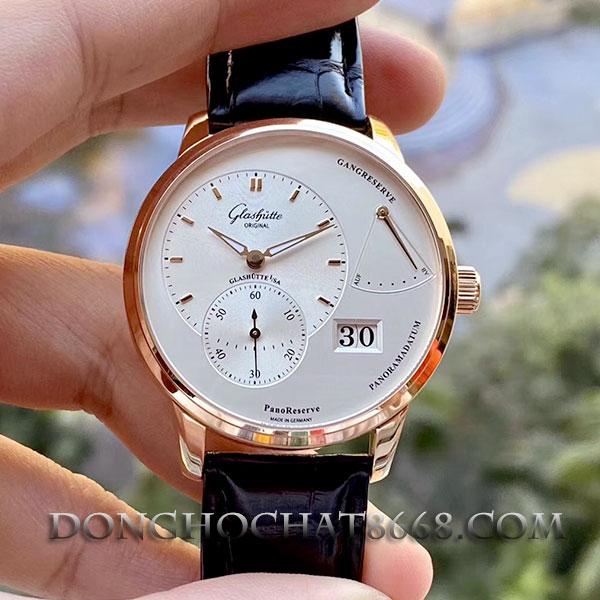 Đồng hồ chế tác vàng nguyên khối Glashutte