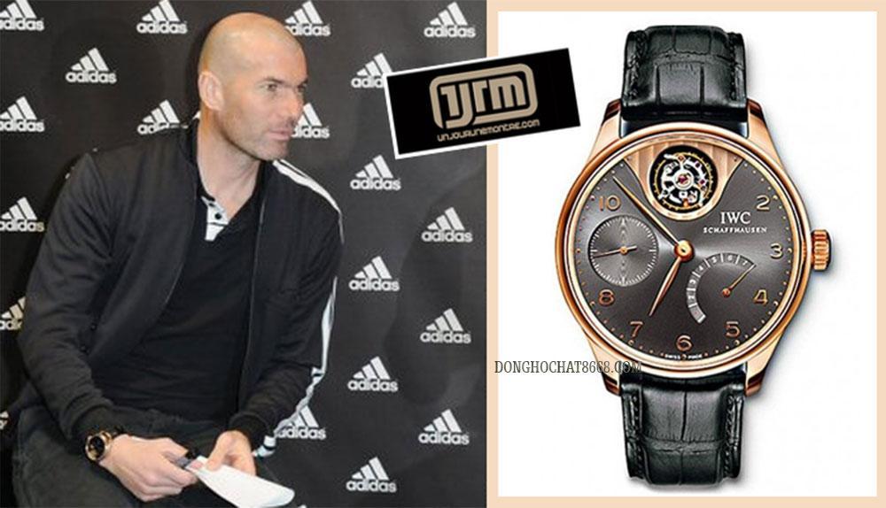 Đồng hồ IWC ngự trị trên cổ tay của danh thủ Zinédine Zidane