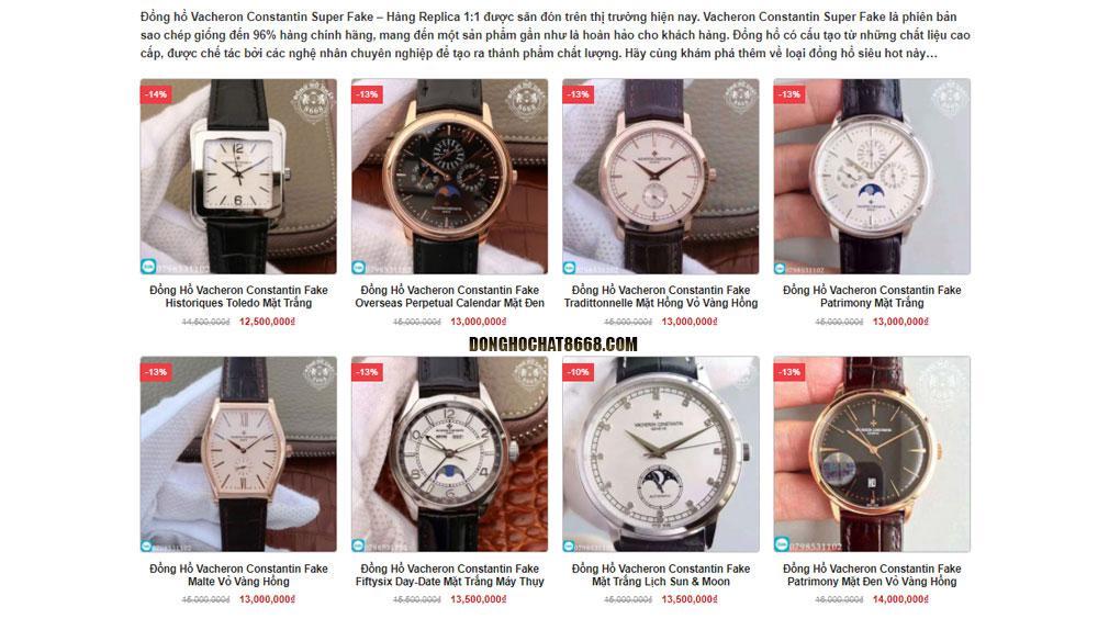 Mua đồng hồ Vacheron Constantin Replica 1:1 chất lượng, uy tín tại Đồng Hồ Chất 8668