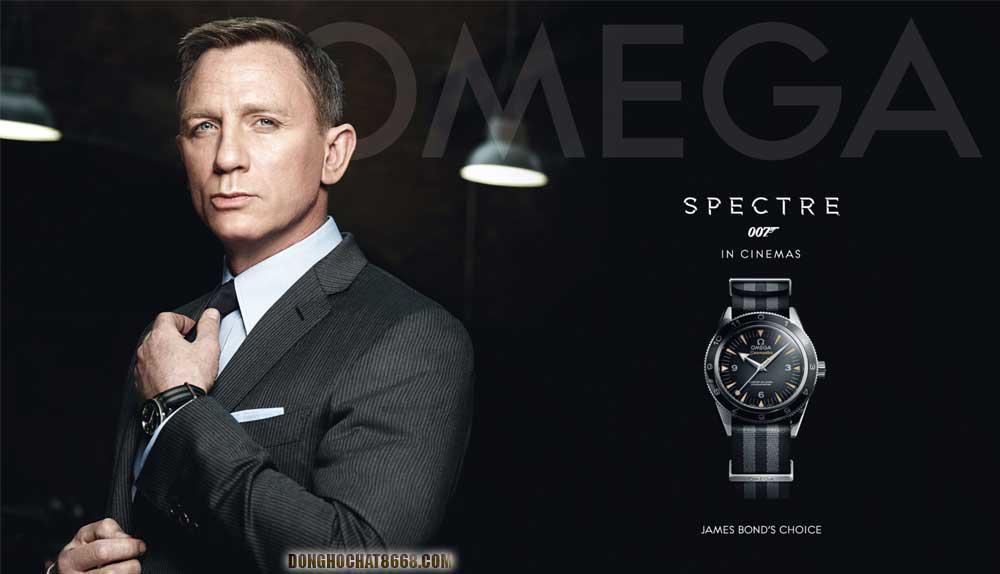 Nam diễn viên Daniel Craig trong vai diễn James Bond - Bộ phim bom tấn Siêu điệp viên 007 cùng chiếc Omega Seamaster.
