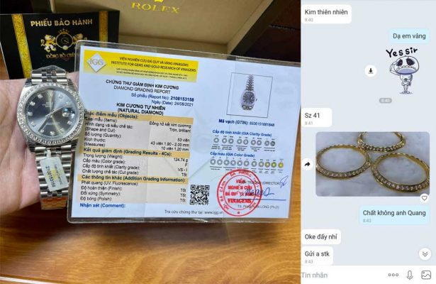 Rolex Oyster Perpetual 41mm Datejust Dark Grey Dial with Diamond Numbers & Diamond Bezel 16014 - Đồng hồ của anh Quang